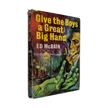 Give the Boys a Great Big Hand Signed by Ed McBain​​​​​​​ Thriller Book Club Edition Boardman 1962
